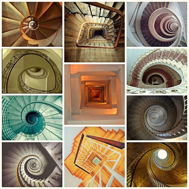 rondeau poem - On Spiral Stairs